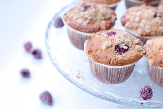 Rezept / Ahornsirup Himbeer Muffins