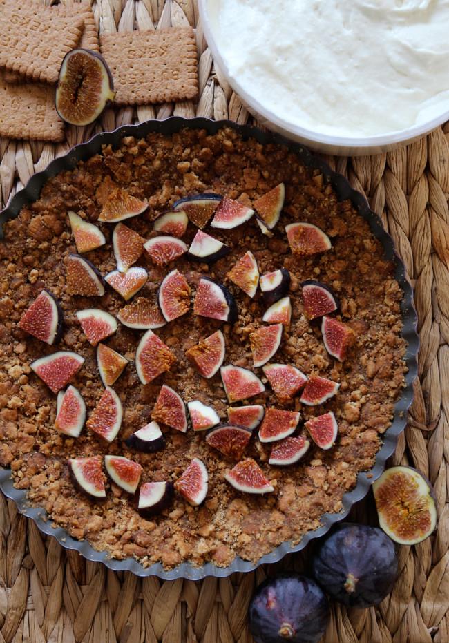 No Bake Cheesecake mit Feigen und Honig / Fanfarella