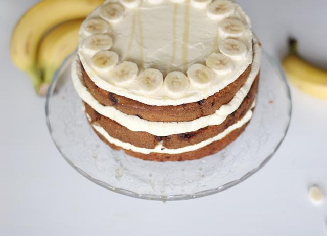 Rezept: Chunky Schoko Bananenkuchen mit Cream Cheese Frosting