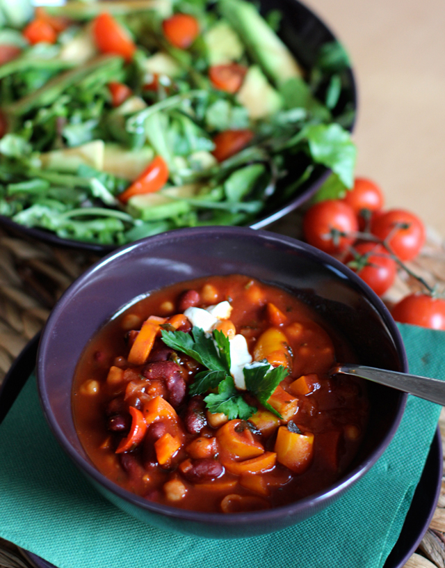 rezept vegetarisches chili chili sin carne fanfarella. Black Bedroom Furniture Sets. Home Design Ideas