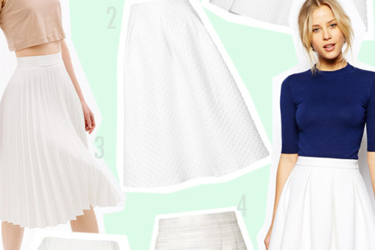 Window Shopping: White Skirts