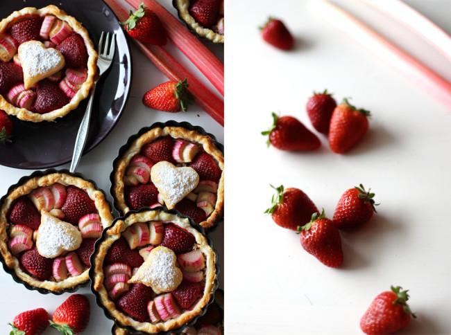 Erdbeer Rhabarber Tartelettes Dessert zum Muttertag / https://www.fanfarella.at/1mf6