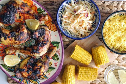 Rezept: Karibisches Jerk Chicken mit Cole Slaw