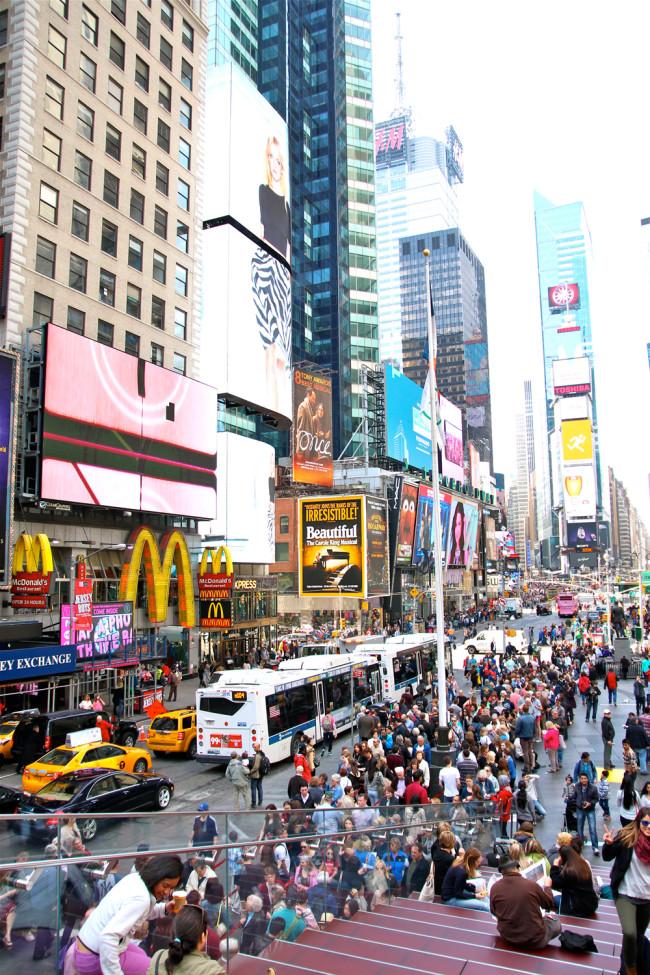New York Times Square / https://www.fanfarella.at/travel-diary-new-york-new-york