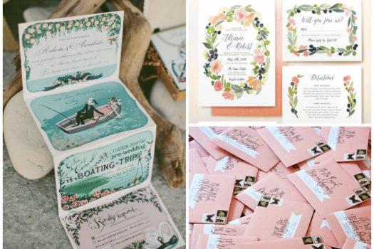 Inspiration: Ideen für unsere DIY Hochzeitseinladungen