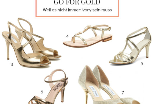 Verzweifelt gesucht: Goldene Brautschuhe