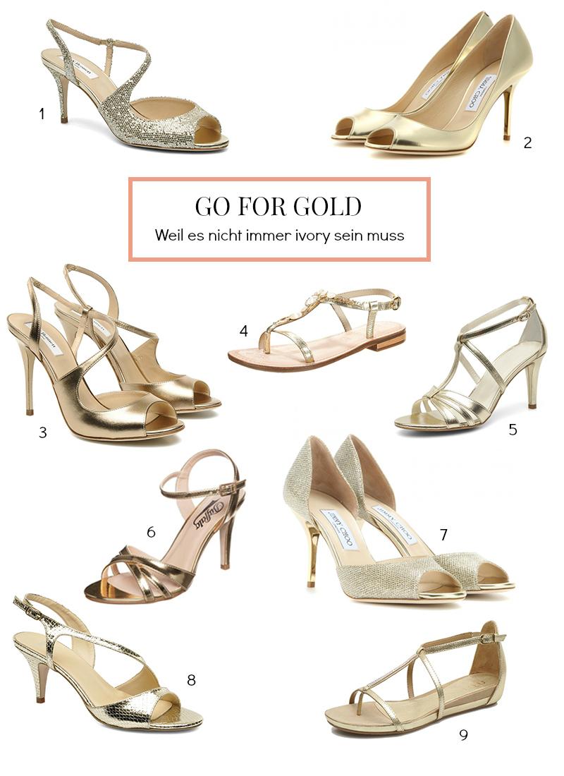 Goldene Brautschuhe / www.fanfarella.at